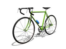 Sport cycle. 3D green sport cycle white background Stock Images