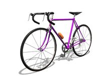 Sport cycle. 3D purple sport cycle white background Royalty Free Stock Photography