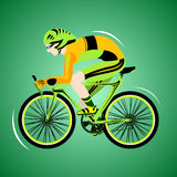 Sport cycling. Competition professional riders. Sport. Mountain bikes. Vector illustration Stock Photos