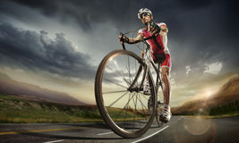 Sport. Cyclist Stock Photography