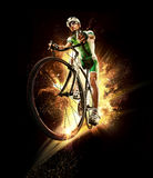 Sport. Cyclist. Sport. Fair cyclist isolated background royalty free stock photography