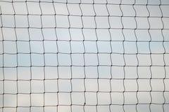 Sport d'été de volleyball Filet sur une plage sablonneuse photo libre de droits