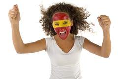 sport d'Espagnol du ventilateur s de famale Image stock