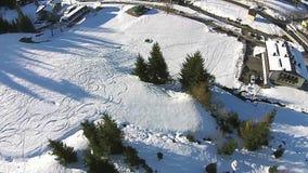Sport d'hiver d'alpes de l'Autriche banque de vidéos