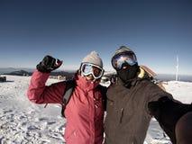 Sport d'hiver sur la montagne Images libres de droits