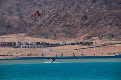 Sport in Dahab von Ägypten Stockfotografie