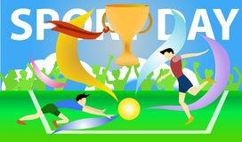 Sport day activity football club. royalty free illustration