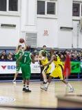 Sport de basket-ball en Ukraine, les moments actifs d'un jeu Photos libres de droits