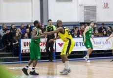 Sport de basket-ball en Ukraine, les moments actifs d'un jeu Photo stock