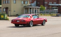 Sport 1976 de Chevrolet Camaro de rouge Photographie stock