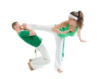 Sport de contact. Capoeira. Images libres de droits