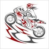 Sport de coureur de moto Photographie stock