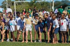 Sport de course transnationale d'enfants d'enfants Images stock