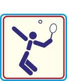Sport de drukprojecten van tennis Vectorpictogrammen Royalty-vrije Stock Foto's