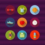 Sport de forme physique et illustration de santé Photo stock