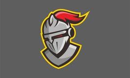 Sport de logo de casque de gladiateur spartiate Photos libres de droits
