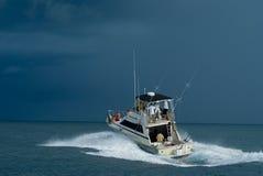 sport de pêche de bateau Photo stock