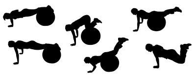 Sport de silhouette illustration stock