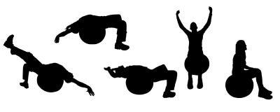 Sport de silhouette illustration de vecteur