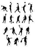 Sport de silhouette Photographie stock