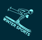 Sport de ski d'hiver illustration stock