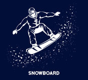 Sport de snowboarding d'hiver illustration libre de droits