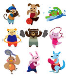 Sport dell'animale del fumetto Fotografia Stock