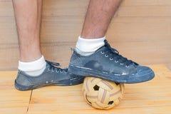Sport della palla di Takraw Immagini Stock