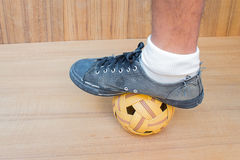 Sport della palla di Takraw Fotografia Stock Libera da Diritti