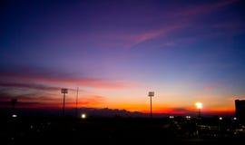 Sport della siluetta Fotografie Stock