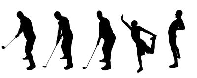 Sport della siluetta illustrazione di stock