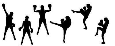 Sport della siluetta Fotografia Stock Libera da Diritti