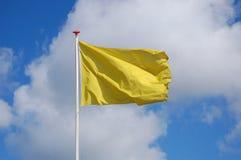 Sport der gelben Markierungsfahne Lizenzfreies Stockfoto