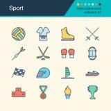 sport deux de silhouettes de joueurs de graphismes du football de bille Collection remplie 27 de conception d'ensemble Pour le pr Photo libre de droits