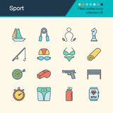 sport deux de silhouettes de joueurs de graphismes du football de bille Collection remplie 28 de conception d'ensemble Pour le pr Photo stock