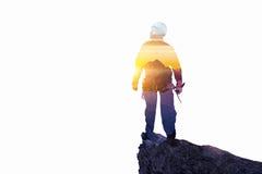 Sport di alpinismo come concetto Media misti Immagini Stock