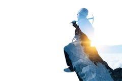 Sport di alpinismo come concetto Media misti Fotografie Stock