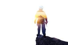 Sport di alpinismo come concetto Media misti Fotografia Stock