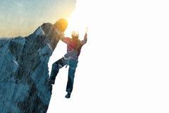 Sport di alpinismo come concetto Media misti Immagini Stock Libere da Diritti