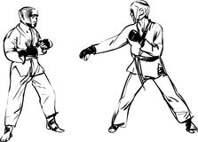 Sport di arti marziali di Kyokushinkai di karatè Fotografie Stock
