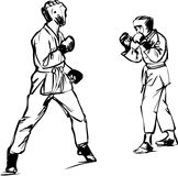 Sport di arti marziali di Kyokushinkai di karatè Fotografia Stock Libera da Diritti
