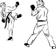 Sport di arti marziali di Kyokushinkai di karatè Fotografia Stock