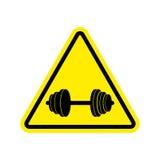 Sport di attenzione Avvertimento del segno della testa di legno del pericolo Si della strada del pericolo Fotografia Stock