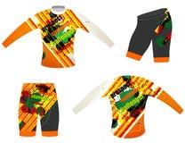 Sport di colori dei grafici che ciclano maglia Fotografia Stock