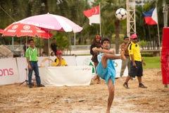 Sport di Footvolley. Immagine Stock Libera da Diritti