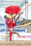 Sport di Footvolley. Immagini Stock