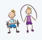 Sport di forma fisica dei bambini Immagine Stock Libera da Diritti