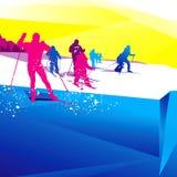 Sport di inverno illustrazione vettoriale