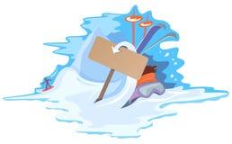 Sport di inverno variopinto e disegno di vacanza royalty illustrazione gratis