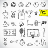 Sport di scarabocchio. Illustrazione di vettore. Royalty Illustrazione gratis